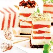 Lachs-Schinken-Konfekt mit Meerrettich-Frischkäse
