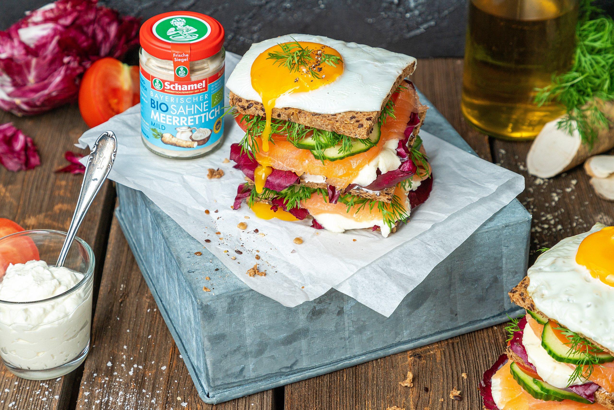 Räucherlachs-Skyrella-Sandwich