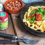 Tagliatelle mit Spinat-Meerrettich-Pesto